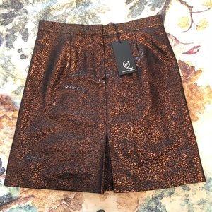 Alexander McQueen bronze skirt NWT